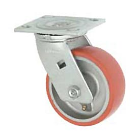 "Faultless Swivel Plate Caster 1438-8 8"" Mold-On Poly Wheel"
