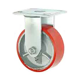 "Faultless Rigid Plate Caster 3438-8 8"" Mold-On Poly Wheel"