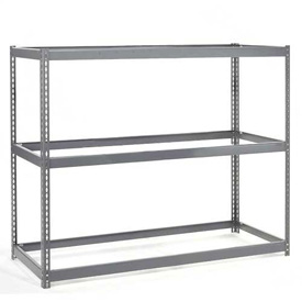 "Wide Span Rack 48""W x 24""D x 60""H With 3 Shelves No Deck 1200 Lb Capacity Per Level"