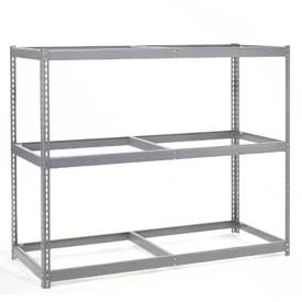 "Wide Span Rack 60""W x 36""D x 60""H With 3 Shelves No Deck 1200 Lb Capacity Per Level"