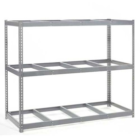 "Wide Span Rack 96""W x 48""D x 60""H With 3 Shelves No Deck 1100 Lb Capacity Per Level"