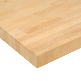 "60"" W x 36"" D x 1-3/4"" Thick Maple Butcher Block Square Edge  Workbench Top"