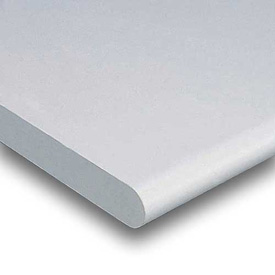 """60"""" W x 30"""" D x 1-5/8"""" Thick, Plastic Laminate Safety Edge Workbench Top, Light Gray"""