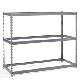 "Wide Span Rack 48""W x 36""D x 96""H With 3 Shelves No Deck 1200 Lb Capacity Per Level"