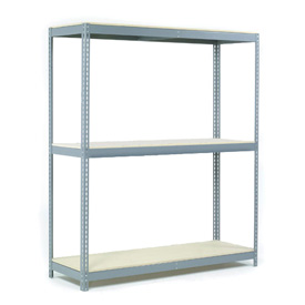 "Wide Span Rack 72""W x 48""D x 60""H With 3 Shelves Wood Deck 900 Lb Capacity Per Level"