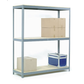 "Wide Span Rack 96""W x 36""D x 60""H With 3 Shelves Wood Deck 800 Lb Capacity Per Level"