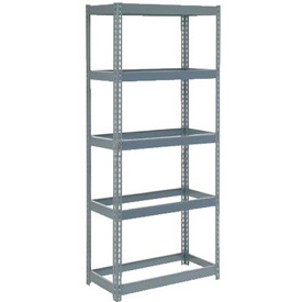 "Extra Heavy Duty Shelving 36""W x 12""D x 96""H With 5 Shelves, No Deck"