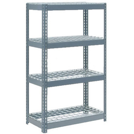 "Extra Heavy Duty Shelving 36""W x 18""D x 60""H With 4 Shelves, Wire Deck"