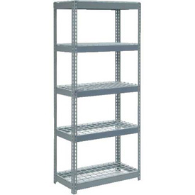 "Extra Heavy Duty Shelving 36""W x 12""D x 84""H With 5 Shelves, Wire Deck"