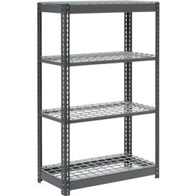 """Heavy Duty Shelving 36""""W x 18""""D x 60""""H With 4 Shelves, Wire Deck"""