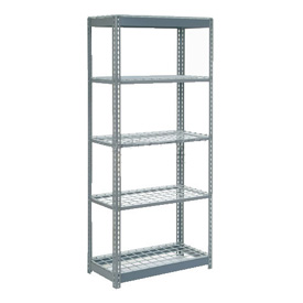 "Heavy Duty Shelving 36""W x 12""D x 84""H With 5 Shelves, Wire Deck"
