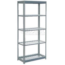 """Extra Heavy Duty Shelving 36""""W x 24""""D x 96""""H With 5 Shelves, Wire Deck"""