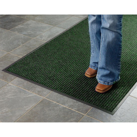 Deep Cleaning Ribbed 6 Foot Wide Cut Length Entrance Mat Green