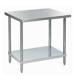 """Aero Manufacturing A2430 30""""W x 24""""D 18 Gauge Stainless Steel Workbench"""