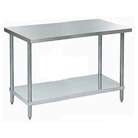 "Aero Manufacturing A3060 60""W x 30""D 18 Gauge Stainless Steel Workbench"