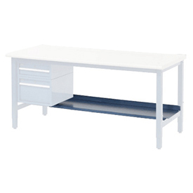 "72""W Lower Shelf For Bench - 15""D- Blue"