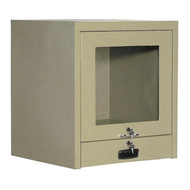 Counter Top CRT Security Computer Cabinet - Putty