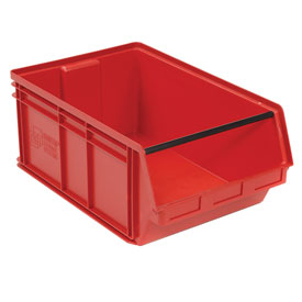 Quantum Magnum Plastic Stackable Storage Bin QMS743 18-3/8 x 29 x 11-7/8 Red