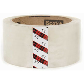 "3M™ Scotch® 371 Carton Sealing Tape 2"" x 55 Yds. 1.9 Mil Clear - Pkg Qty 36"