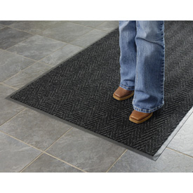 Chevron Ribbed  Mat 4x6  Charcoal