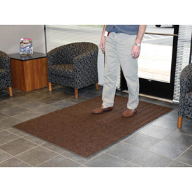 Chevron Ribbed Mat 4 Foot Brown