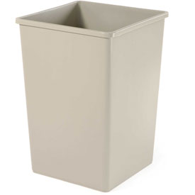 Rigid Liner For Rubbermaid Plaza Receptacle - Beige 3958