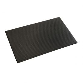 Ribbed Surface Mat 5/8 Thick 3 Foot Wide Black