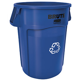 Rubbermaid® Brute 2643-07 Round Recycling Container, 44 Gallon - Blue