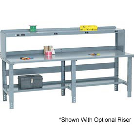 "96"" W x 30"" D Extra Long Steel Workbench - Gray"