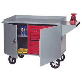 Mobile Heavy Duty Service Bench - 3000 Lb. Capacity