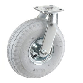 "Swivel Plate Caster 10"" Full Pneumatic Wheel 330 Lb. Capacity"