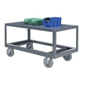 Portable Steel Table 1 Shelf 48x24 1200 Lb. Capacity Unassembled