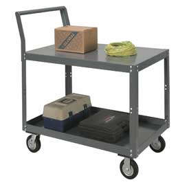 Two Shelf Unassembled Heavy Duty Service Cart 48 x 24 1200 Lb. Capacity