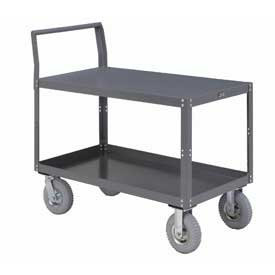 Two Shelf Unassembled Heavy Duty Service Cart 60 x 30 1200 Lb. Capacity