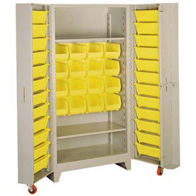 Lyon Storage Cabinet With3 Full Shelves 40 Tilt Bins PP1126 - 38x28x76 Putty