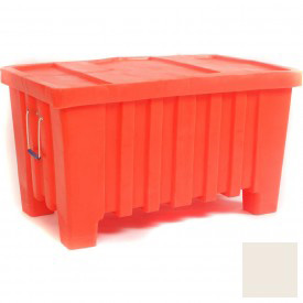 """Myton Forkliftable Bulk Shipping Container MTW-2 with Lid - 43""""L x 26-1/2""""W x 24""""H, White"""