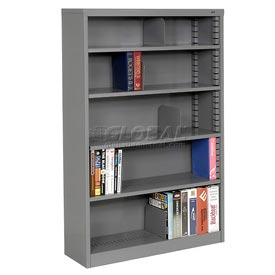 "Quick Adjust Steel Bookcase - 60""H Gray"