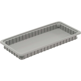 "Dandux Dividable Stackable Plastic Box 50P0224034 -  24""L x 11""W x 3-1/2""H, Gray"