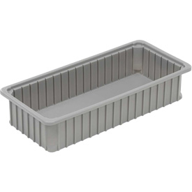 "Dandux Dividable Stackable Plastic Box 50P0224050 -  24""L x 11""W x 5""H, Gray"