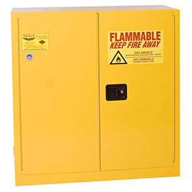 Eagle Flammable Cabinet with Manual Close Double Door 30 Gallon