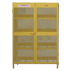 "Global™ Cylinder Storage Cabinet - Horizontal Double Door 12 Cylinders - 50""W x 40""D x 71""H"