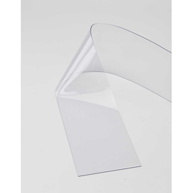 "Replacement 8"" x 8' Clear Strip for Pedestrian Strip Curtain Doors"