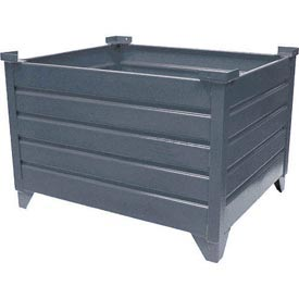 "Topper Stackable Steel Container 51017 Solid, 35""L x 30""W x 24""H, Unpainted"