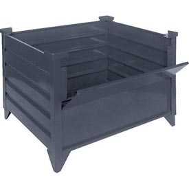 """Topper Stackable Steel Container 51006 Solid, 35""""L x 35""""W x 24""""H, Unpainted"""