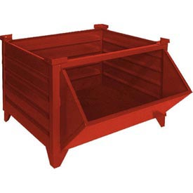 Topper All Welded Steel Container 51008RHF Hopper Front Red