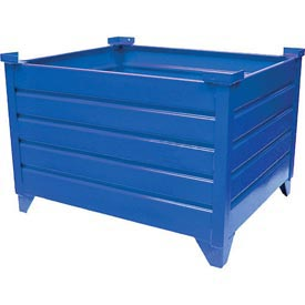 "Topper Stackable Steel Container 51002B Solid, 48""L x 35""W x 18""H, Blue"
