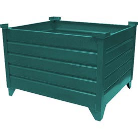 """Topper Stackable Steel Container 51005G Solid, 48""""L x 48""""W x 18""""H, Green"""