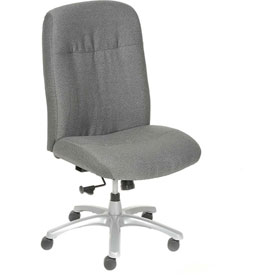 Big and Tall Chair - Fabric - High Back - Gray