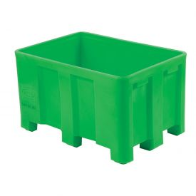 "Dandux Forkliftable Double Wall Skid Bulk Container 512120E - 36"" x 26"" x 22"", Green"