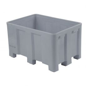 """Dandux Forkliftable Double Wall Skid Bulk Container 51-2126GY - 54"""" x 44"""" x 31"""", Gray"""